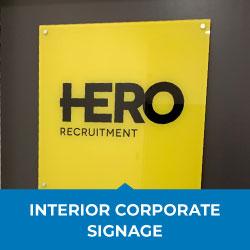 interior corporate signage
