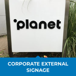 corporate external signage